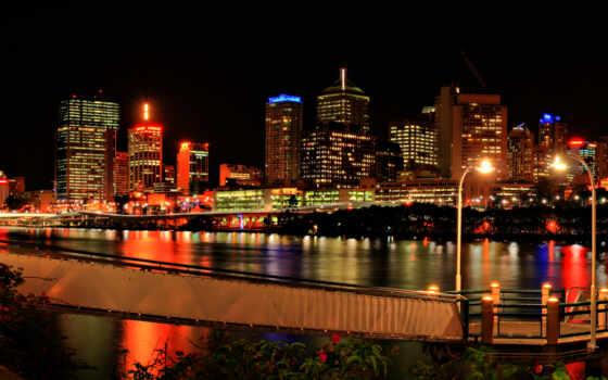 городов, город, ночь