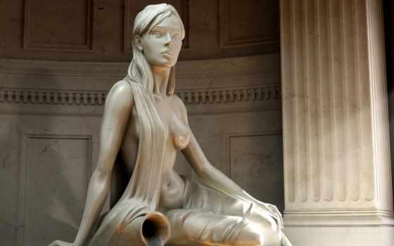 статуя, девушек, подборка