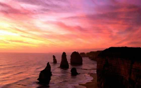апостолов, twelve, apostles, скалы, victoria, австралия, campbell,