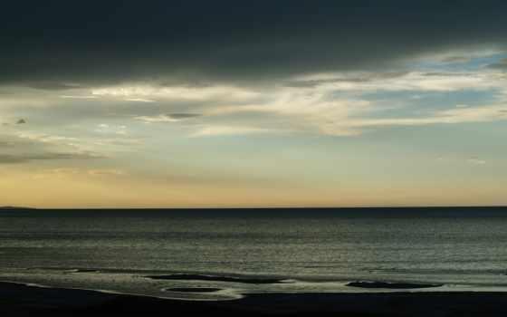 dark, море, небо