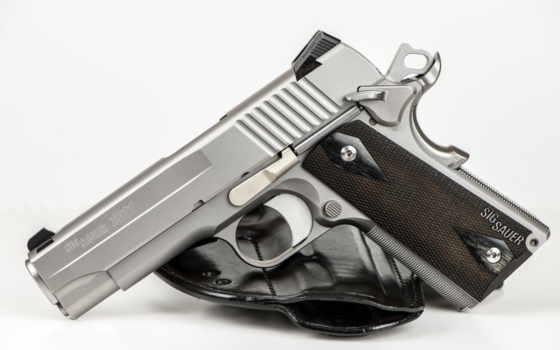 sig, sauer, пистолет, оружие, compact, stainless, 1911,