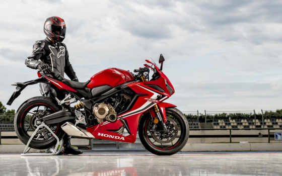 honda, мотоцикл, красный