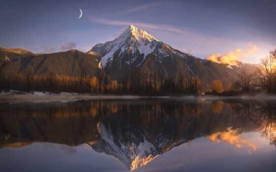,, отражение, природа, гора, mountainous landforms, природный ландшафт, небо, горный хребет, пустыня, озеро, нагорье,