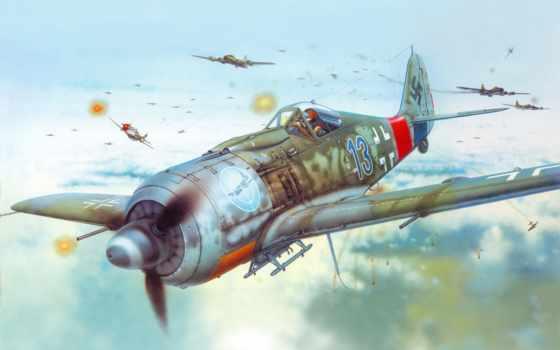 fw, истребитель, самолет, рисунок, обои, wulf, foc