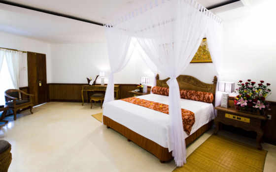 кровать, спальня