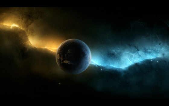 планета, звезды Фон № 32069 разрешение 1920x1080