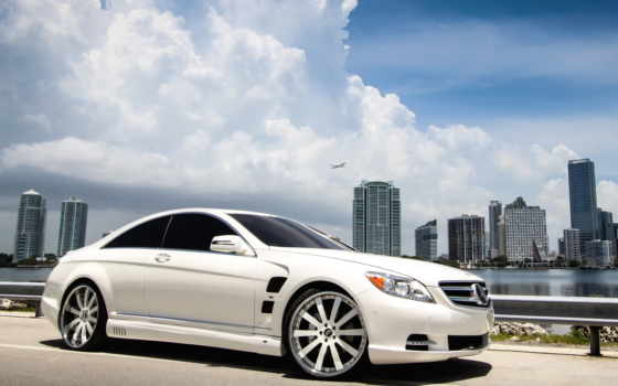 mercedes, benz, тюнинг, coupe, cls, white,