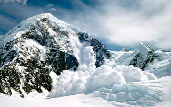 горы, лавины, снег