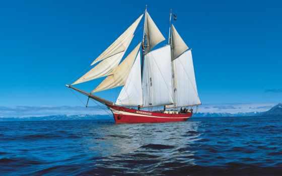 корабли, море, корабль, парусные, рисунок, рисованный,