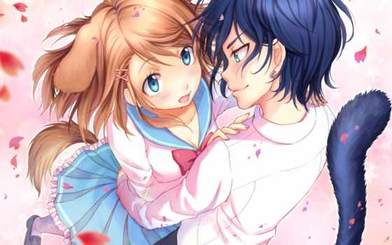 anime, couples, pinterest