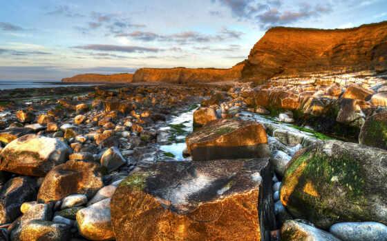 пляж, rocks, landscape, images, природа, desktop, море,
