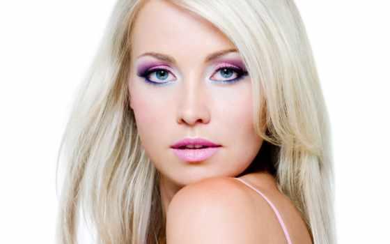 сделать, глаз, свет, голубые, красивый, макияж, голубых, серо, волос,