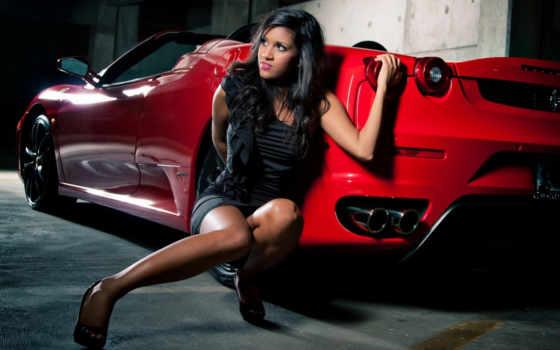 car, девушка, cars