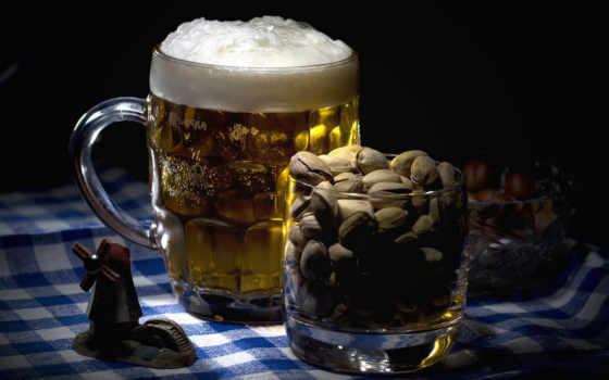 ,пиво, орешки, glass,