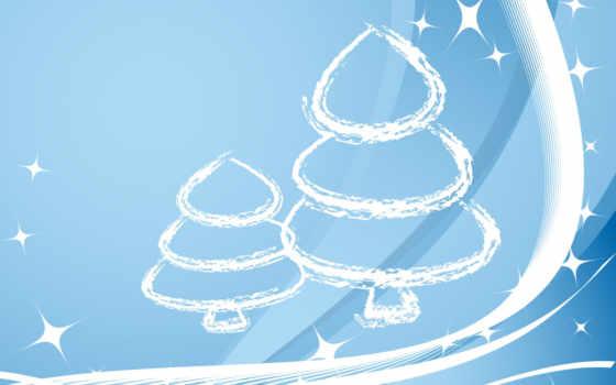 год, новый, синий, елка, линии, christmas, нравится, holiday, white, strokes, картинку,