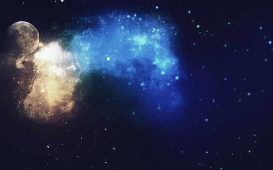 космос, nebula, звезды