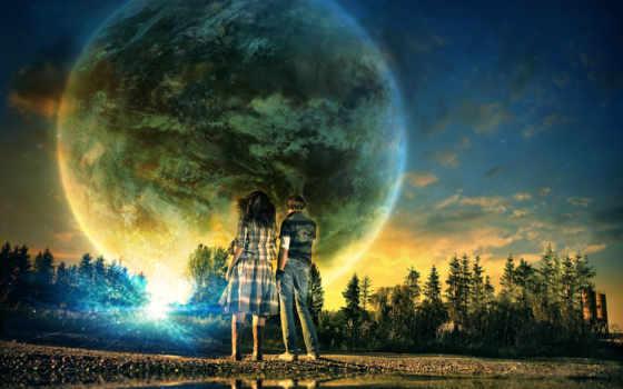 planet, девушка, парень, интересные, места, land, лес, необычные, планеты, открыть, www,