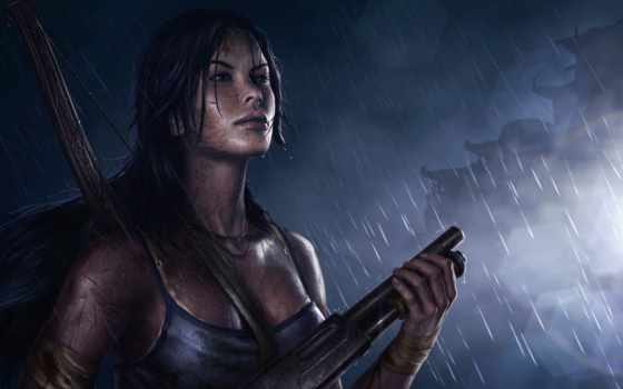 игры, tomb, raider, video, лара, крофт, shotgun, payday, девушка, game,