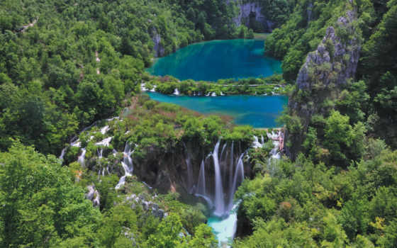 хорватия, хорватии, park, national, плитвицкие, озера, парки, национальные, листь,