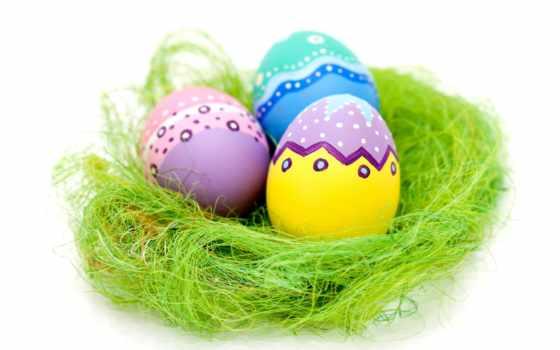 яйца, пасхальные, клипарт, eggs, firestock, easter, траве, растровый, яркие, кб,