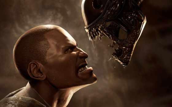 хищник, aliens, игры, чужой, game, video, мужчина, против, хищника,