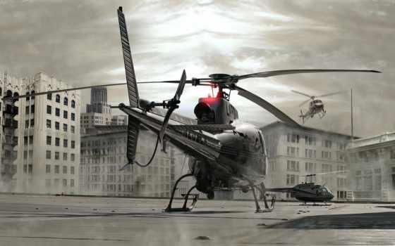 вертолет, крышка