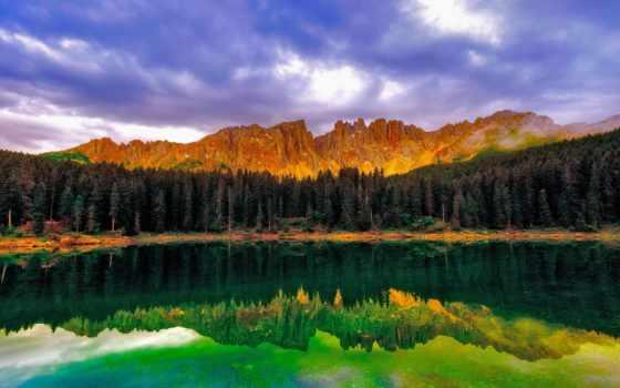 lago, esmeralda, canadá, fondos, канада, infantiles, небо,