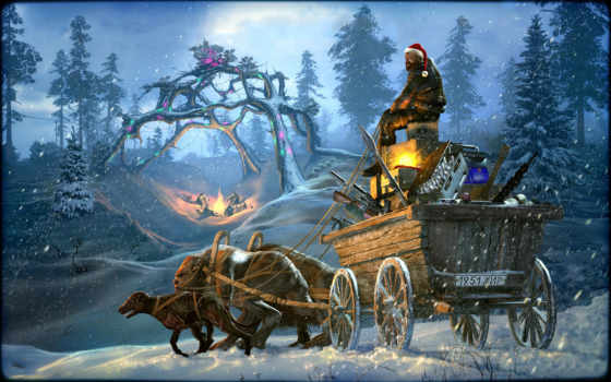 рождеством, годом, новым