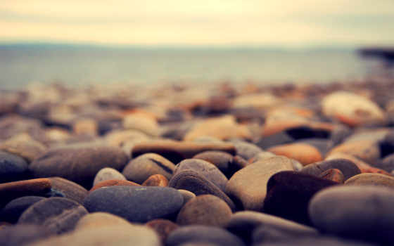 камни, море, галька, берег, макро,