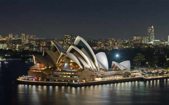 sydney, opera, house, оперный, театр, австралия, мира,
