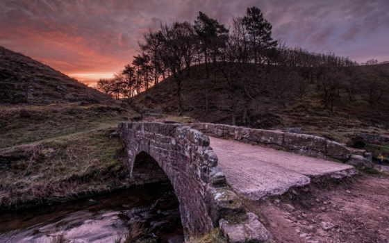 мост, камень, река, горы, коллекция, уже, лучшая, загружено,