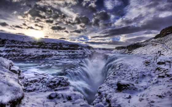 водопад, ди, cascata, gullfoss, гюдльфосс, их, нашей, islanda, смотри, есть,