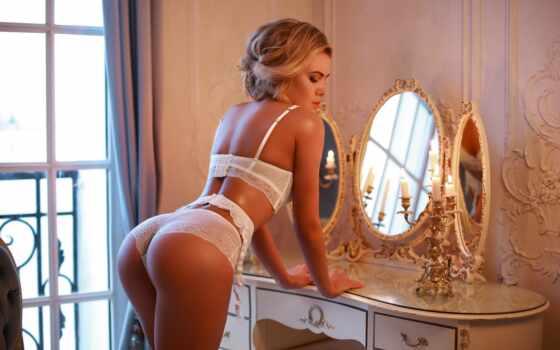 lingerie, удовольствие, panties, fendoma, комната, white, blonde