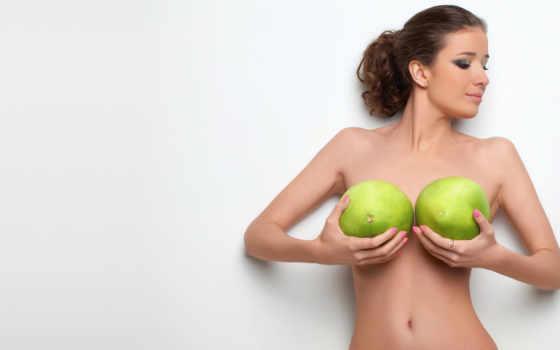 фрукты, грудь