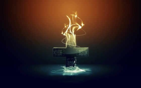 крест, iphone, christian, вода, огонь, animated, free,