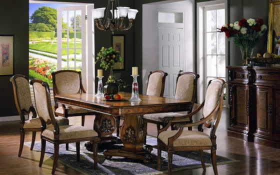 стулья, интерьер, кресла