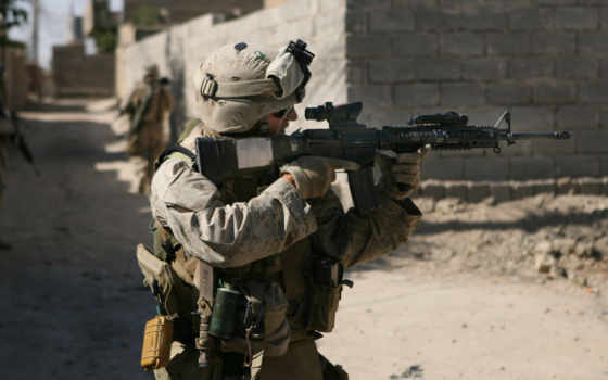 usa, marine, оружие, солдат, армии, морпехи, colt, прицел, marines,