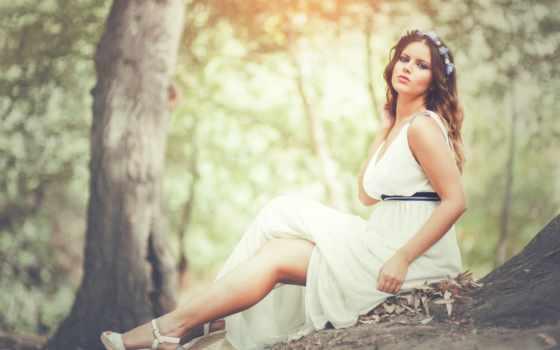 платье, brunette, фон