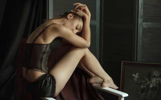 эротика, shirokoformatnyi, модель, lower, белье, saul, объект, фотограф, pinterest, haliullin, armchair