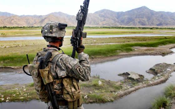 солдат, сша, оружие