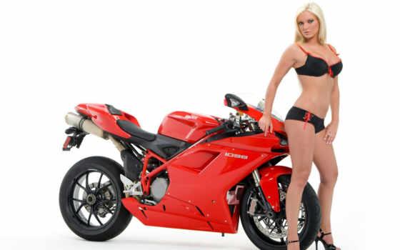 мотоциклы, красивые, девушек