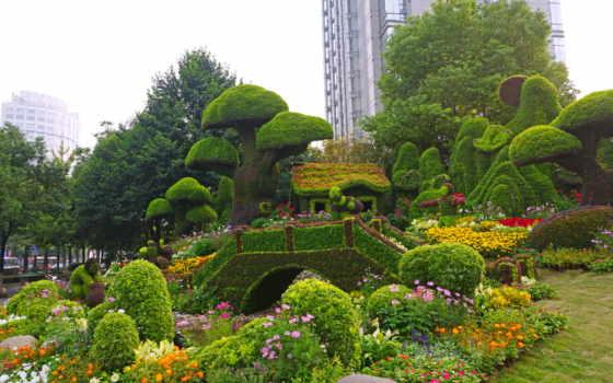 сады, парки, мира