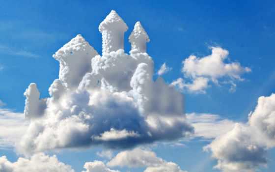 замки, воздушные, когда, aerial, со, строю, небе, castle, растает, туман, порою,