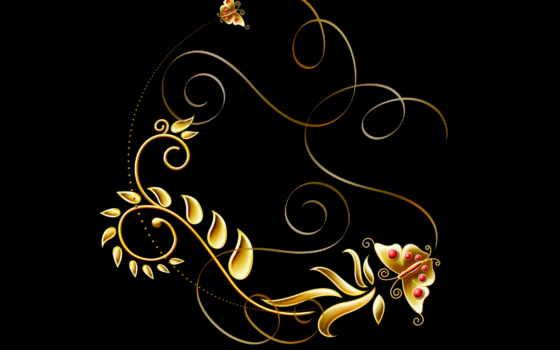 fone, узоры, черном, красочные,