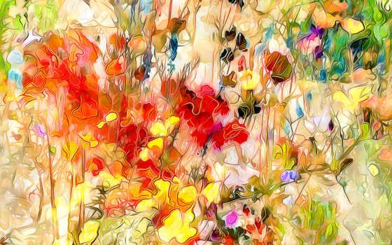 flowers, цветы, абстракции