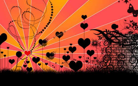 сердечки, black, настроения, красивые,