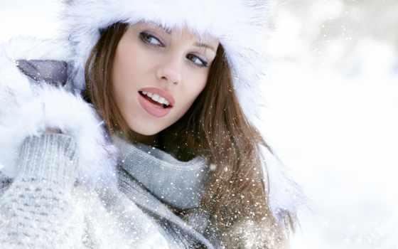 девушка, шапка, шапке, зимой, winter, devushki, мех, зимняя, красивая, клипарт,