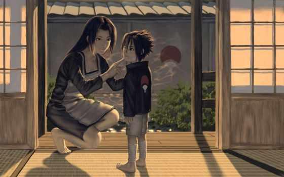 учиха, anime, саске