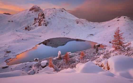 снег, south, вечер