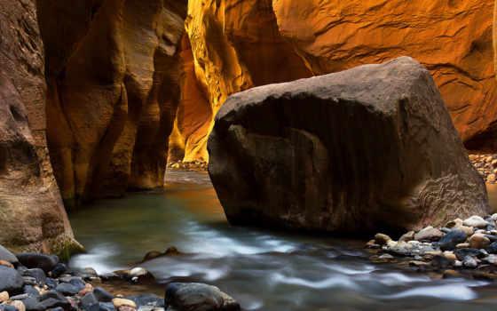 zion, narrows, national, природа, park, pvarney, картинка, парки, река,